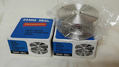 2 NEW IN BOX HJigh Grade Stainless Steel developing tank 35mm film reels