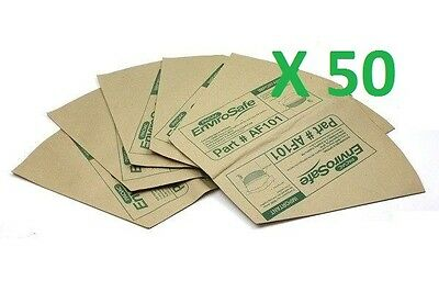 50x Genuine PacVac Paper Dust Bags for Superpro700 Thrift650 DUB001/DUB019/AF101