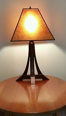 Dovecote arts & crafts mission white oak table lamp single or pair mission new