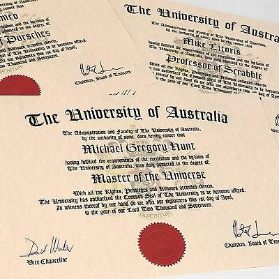 Diploma in Doll's Clothes • Fun Diploma • Great Customised Gift • FUN •
