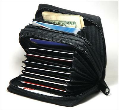 Brand New Leather Credit Card Holder Wallet with Front Pocket ID Window - APW02