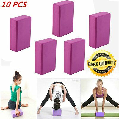 10 X Yoga Block Brick Foaming Foam Home Exercise Practice Fitness Gym Sport Tool