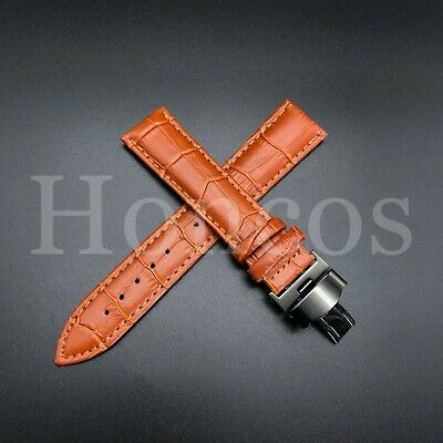 24MM Dark Brown Chocolate Leather Watch Band Strap Panerai Buckle Pam 44MM
