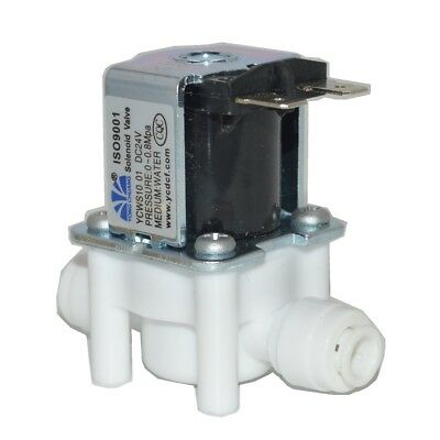 "24VDC  1/4"" Hose quick connection NC Plastic Electric Solenoid Valve RO water"