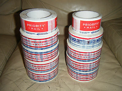 10 Rolls USPS Priority Mail Label Shipping Tape 106-A 106A 2008 2013 2015