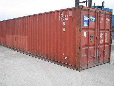 Container 40' Including Pallet Racking - shelving inside