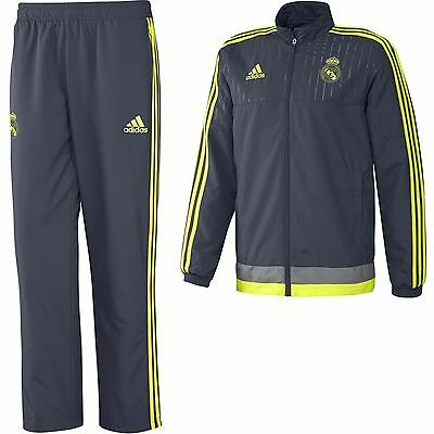 Real Madrid Adidas Boys Presentation Tracksuit Age 7-8 9-10 11-12 13-14 15-16
