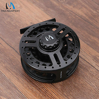 Maxcatch 5/6WT Fly Fishing Reel Black High Density Plastic Graphite Fly Reel