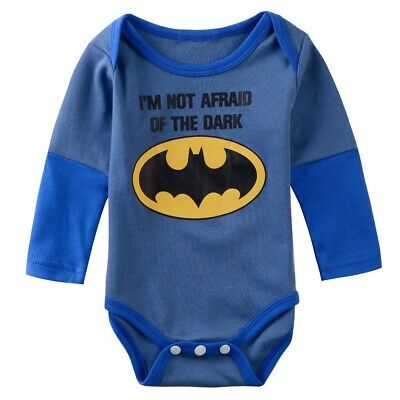 Babygrow Baby Boys Girls Superhero Bodysuit Infant Funny Cute Costume