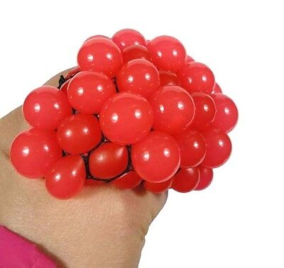 Fashion 1PCS Stress Relief Squeezing Soft Vent Grape Ball Hand Wrist Toy