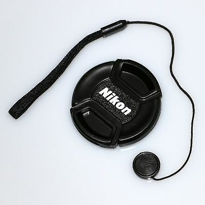 67mm nikon central pinch lens front cap cover with cord for 70-300 18-105 18-140