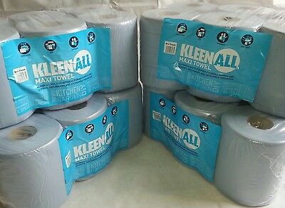 24 rolls Blue Centre feed Embossed 2ply Wiper Paper Towel Kitchen Roll