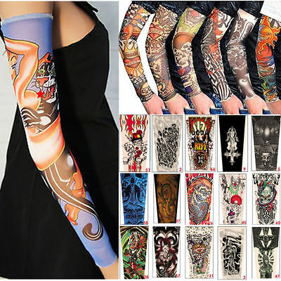 6pcs Tattoo Sleeve Mix Nylon Stretchy Temporary Sleeves Fashion Arm Stocking New