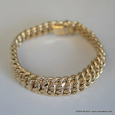 Bracelet Or 18k 750 Maille Americaine 20.4grs - Bijoux occasion