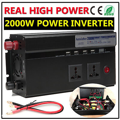 Car Power Inverter DC 12V To AC 220V 200W/500W Digital Display Camping Equipment