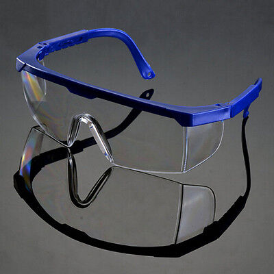 Actual Safety Eye Protection Clear Lens Goggles Glasses From Lab Dust PaintG9I