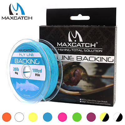 Maxcatch Fly Line Backing 20lb 30lb 50/100Yard Poly Braided Backing Line