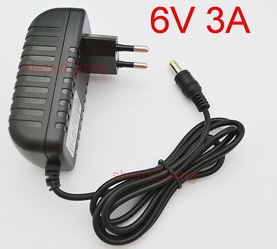 AC 100V-240V Adapter DC 6V 3A Switching power supply Charger EU DC 5.5mm 3000mA