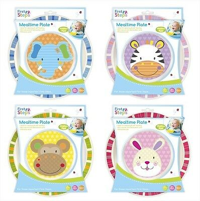 First Steps Jungle Pals Childrens Toddler BPA Free Mealtime Plate
