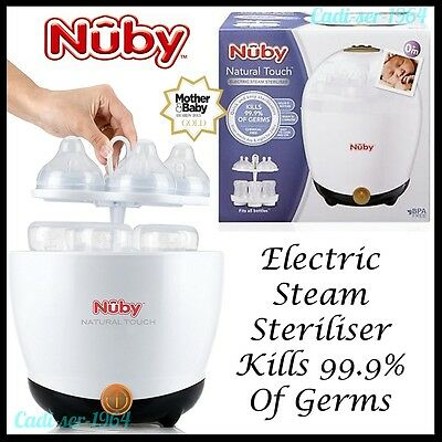 NEW Nuby Natural Touch Electric Steam Sterilizer Free Bottle & Ubersoother 67690