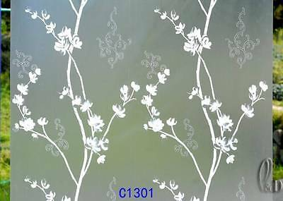 90cmx3m Floral Privacy Frosted Frosting Removable Glass Window Film c1301