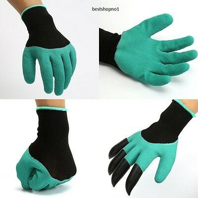 1 pair Plastic Garden Genie Claws Gloves For Raking,Digging & Planting UK Seller
