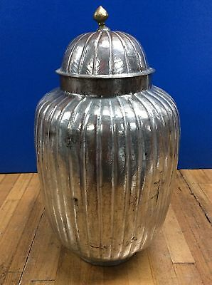 Antique Islamic Ottoman Copper and Zinc? Container with Lid  19th Century