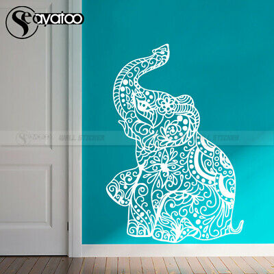 Elephant Indian Yoga Ganesha Mandala Vinyl Wall Sticker Decal Kids Baby Bedroom