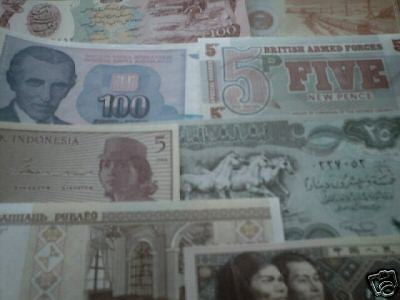 world paper money lot of 10 different countries most Uncirculated