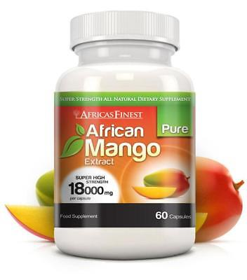 Africas Finest Pure African Mango Pills 18000mg 60 Capsules Evolution Slimming