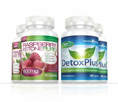 Raspberry Ketone Pure 600mg Colon Cleanse Combo 2 Month Evolution Slimming