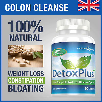 Detox Plus Colon Cleanse Diet Pills 90 Capsules Bloating Evolution Slimming