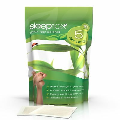 Sleeptox Detox Foot Pad Patch Cleanse 10 Natural Patches Evolution Slimming