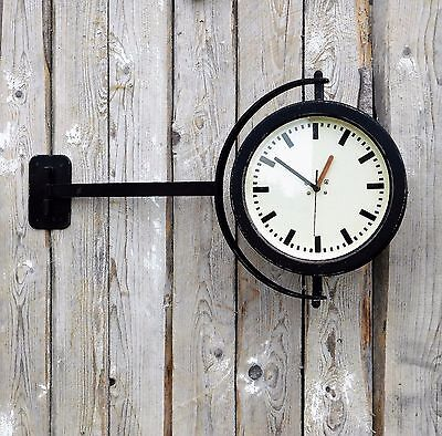ORIGINAL 40s 50s RAILROAD INDUSTRIAL FACTORY PUB OR STATION CLOCK, R31