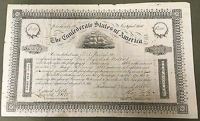 Ball 139 CR-103 $200 Confederate Bond 1863
