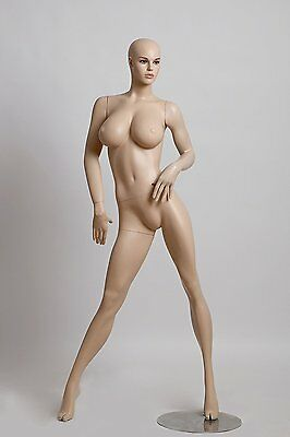 Realistic Female Mannequin, Includes Wig, Made of Fiberglass (lcy8)
