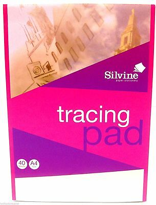 Silvine A4 Tracing Paper Pad Landscape 40 Sheets - WH2-R3B : 825 - NEW