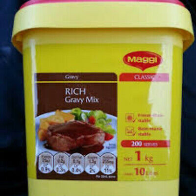 1KG MAGGI RICH GRAVY MIX x 2 TUBS + FREE POST - LIMITED EDITION SIZE