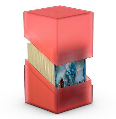 Ultimate Guard - Boulder Deck Case 100+ Ruby - Gaming Card Box for Arkhive