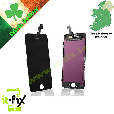Apple iPhone 5S Replacement Lcd Touch Screen Digitizer Glass Assembly - Black