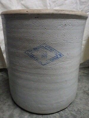 Antique/Vtg 10 Gallon Diamond Brand Glazed Stoneware Crock Pittsburg Pottery Co