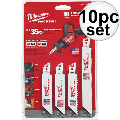 10pc M12 Hackzall Blade Set Milwaukee 49-22-0220 New