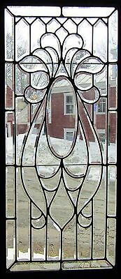 Large Victorian Beveled Glass Window - Door Panel