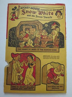 Post Toasties Cereal Box Disney's Snow White and Seven Dwarfs 1937