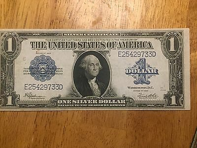 $1 Silver Certificate 1923  Horse Blanket large size