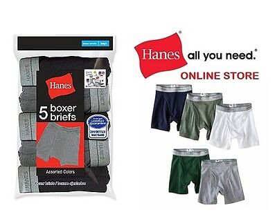 Hanes Boys' Comfort Flex Waistband  Boxer Briefs in Assorted Colors 5-Pack