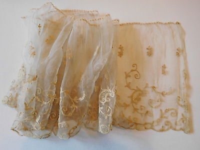 "Antique Ivory Lace Trim 1Yd +10"" L & 8"" W"