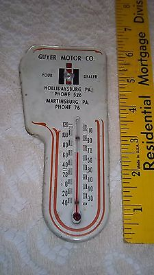 Rare IH International Harvester DEALER Thermometer Martinsburg-Hollidaysburg Pa