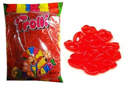 Trolli Lips 2kg Bag Red Candy Buffet Gummy Lollies Party Favors Bags