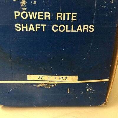 "New,  Power Rite Shaft Collars  Sc 3""   ( Qty. Of 3 )"